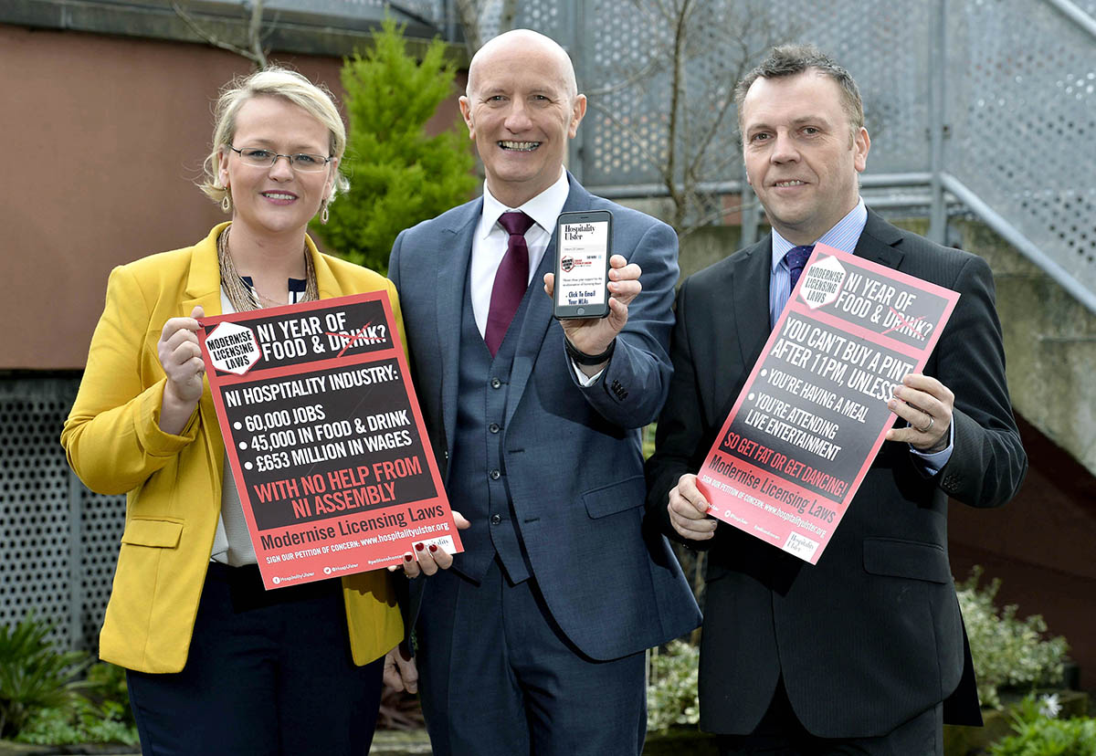 Hospitality Ulster launches campaign to force Assembly to modernise outdated liquor licensing laws
