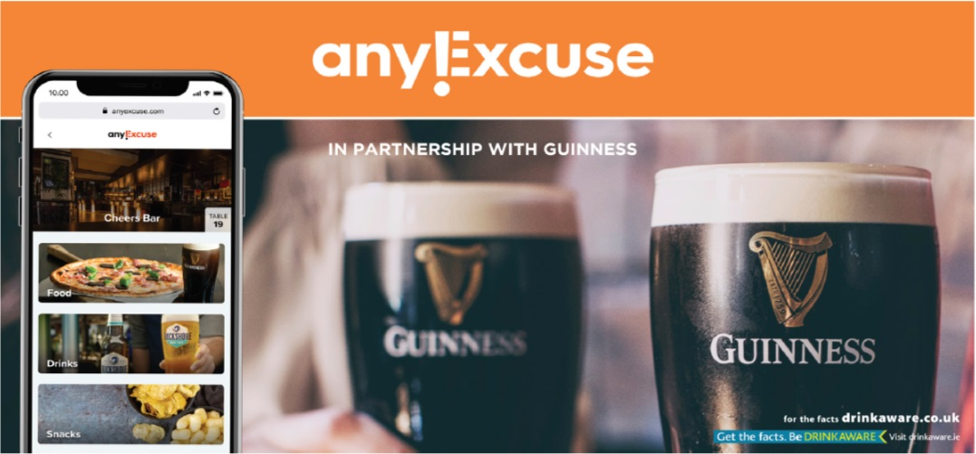 GUINNESS PARTNERS WITH TABLE BOOKING TABLE SERVICE AND CLICK AND COLLECT APP TO OFFER 6 MONTHS FREE