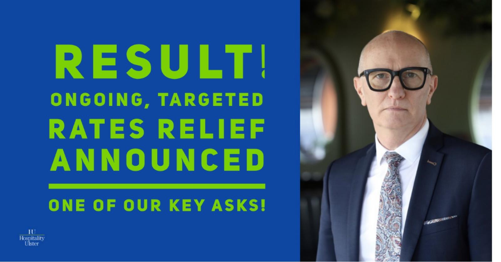 RESULT AS ONGOING TARGETED RATES RELIEF ANNOUNCED