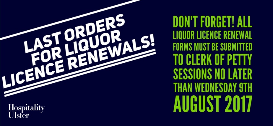 LAST ORDERS for Liquor Licence Renewals