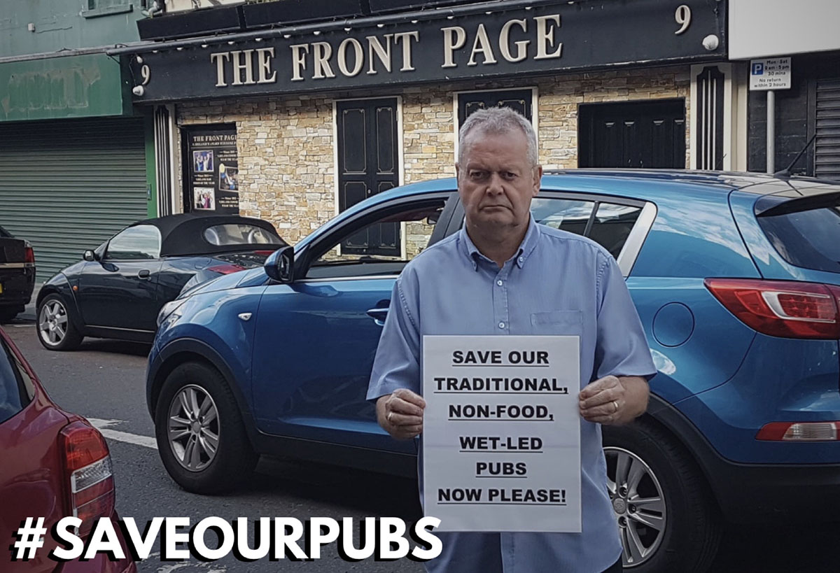 SAVEOURPUBS - The Front Page in Ballymena